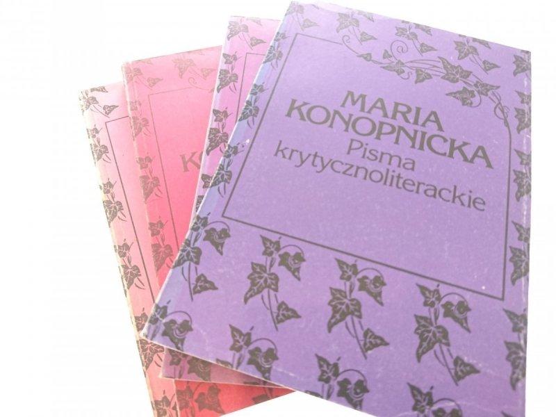 PISMA WYBRANE OD 1 DO 4 - Maria Konopnicka 1988