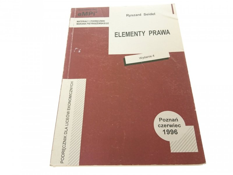 ELEMENTY PRAWA - Ryszard Seidel 1996