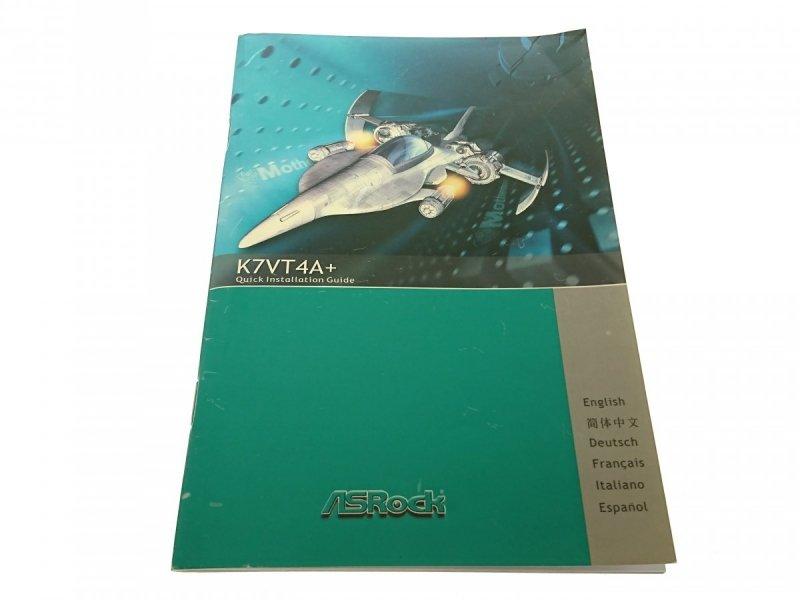 ASROCK K7VT4A+ QUICK INSTALLATION GUIDE 2004