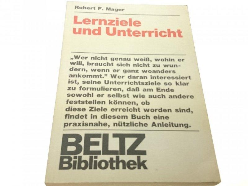 LERNZIELE UND UNTERRICHT - Robert F. Mager (1974)