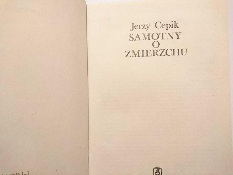 SAMOTNY O ZMIERZCHU - Jerzy Cepik 1985