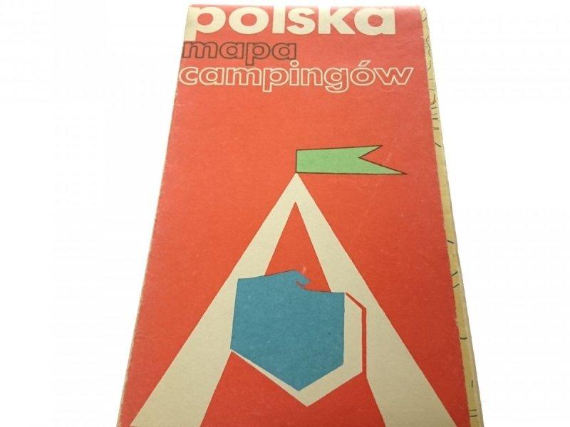 POLSKA MAPA CAMPINGÓW (1975)