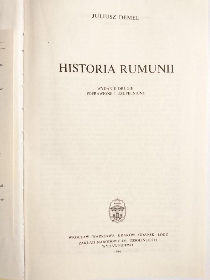 HISTORIA RUMUNII - Juliusz Demel 1986