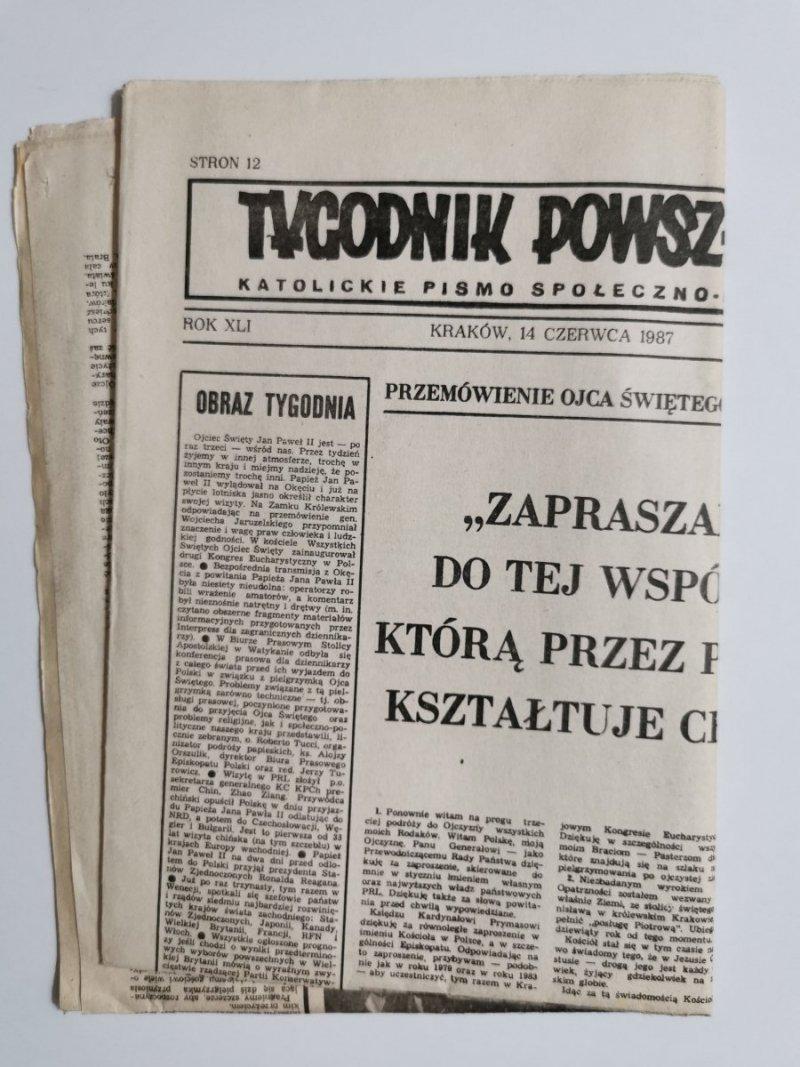TYGODNIK POWSZECHNY ROK XLI KRAKÓW, 14 CZERWCA 1987 NR 24 (1981)