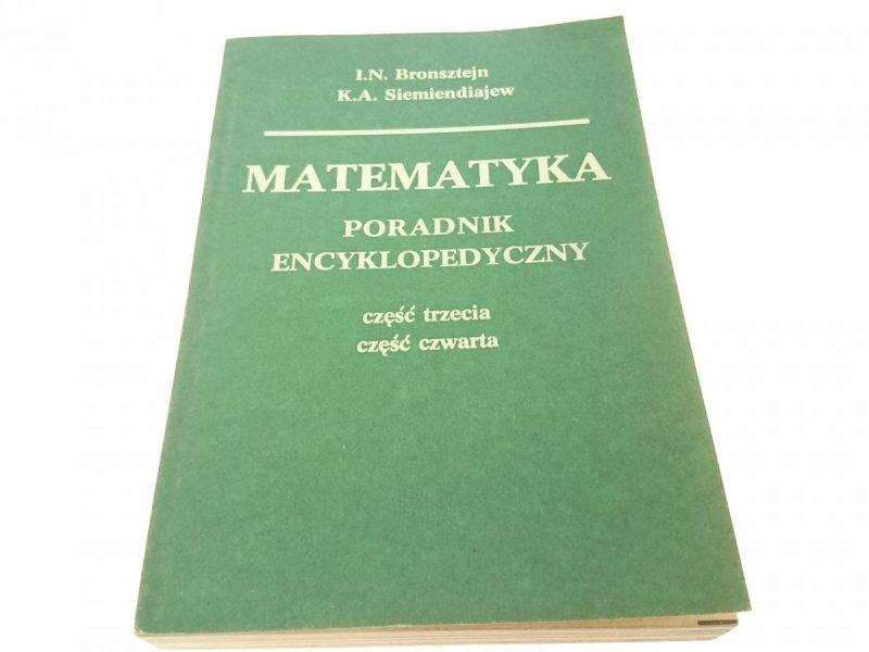 MATEMATYKA. PORADNIK ENCYKLOPEDYCZNY CZĘŚĆ 3 i 4