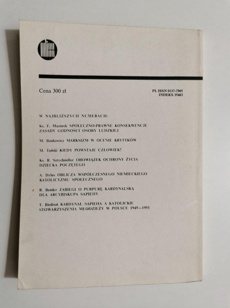CHRZEŚCIJANIN W ŚWIECIE NR 188 MAJ 1989 PAPIEŻ PIUS XII
