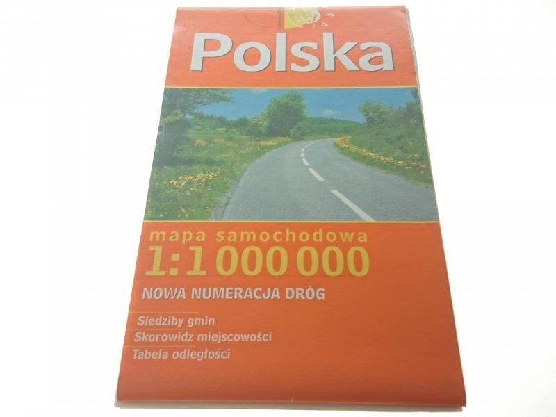 POLSKA. MAPA SAMOCHODOWA 1: 1 000 000