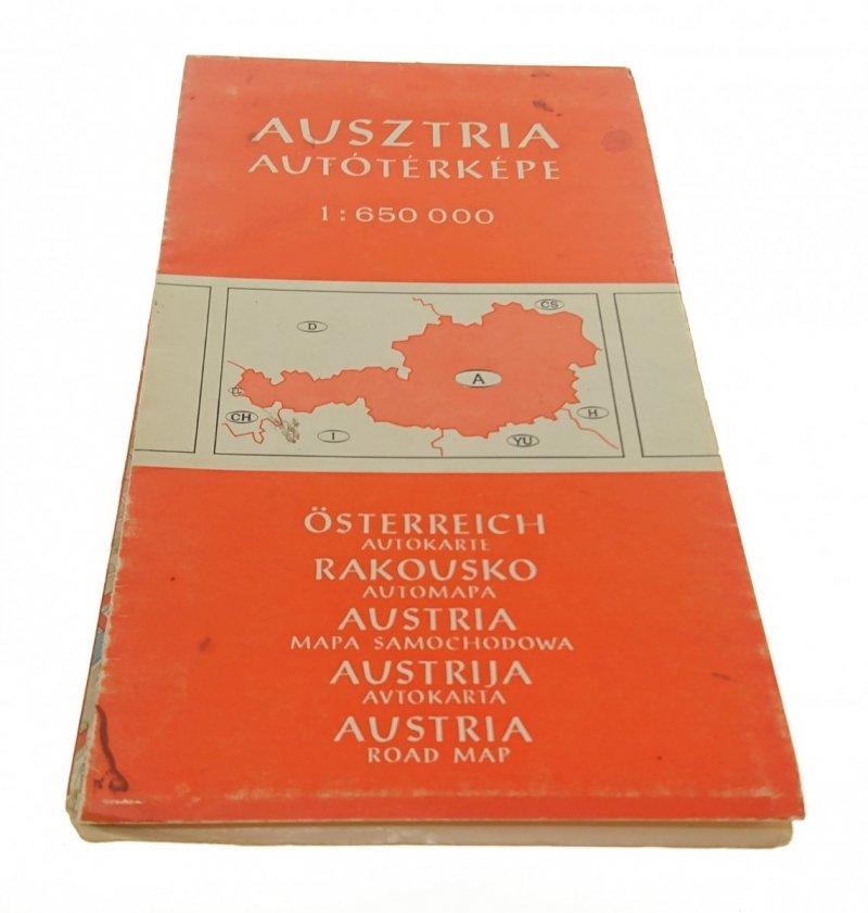 AUSZTRIA AUTOTERKEPE - AUSTRIA MAPA SAMOCHODOWA