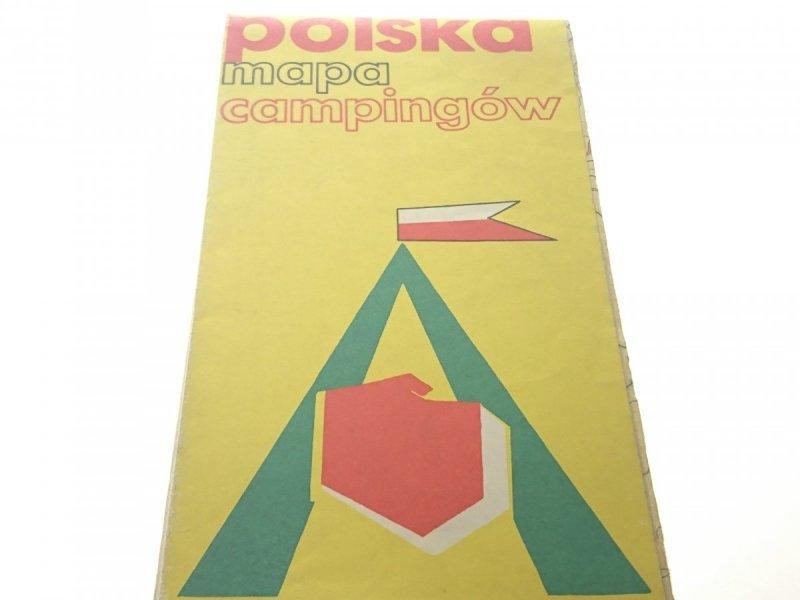 POLSKA MAPA CAMPINGÓW