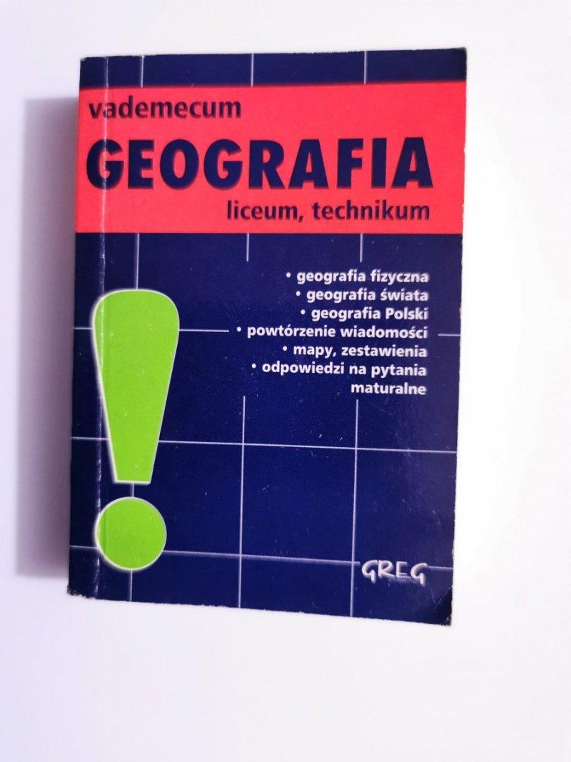 VADEMECUM GEOGRAFIA. LICEUM, TECHNIKUM - Sławomir Jaszczuk