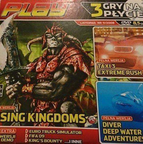 PLAY. LISTOPAD NR 11/2008 RISING KINGDOMS; TAXI 3