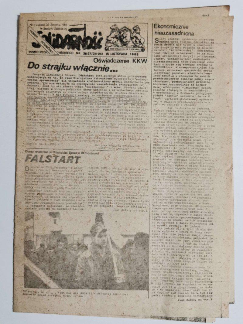 SOLIDARNOŚĆ NR 26-27/211-212 15 LISTOPADA 1988