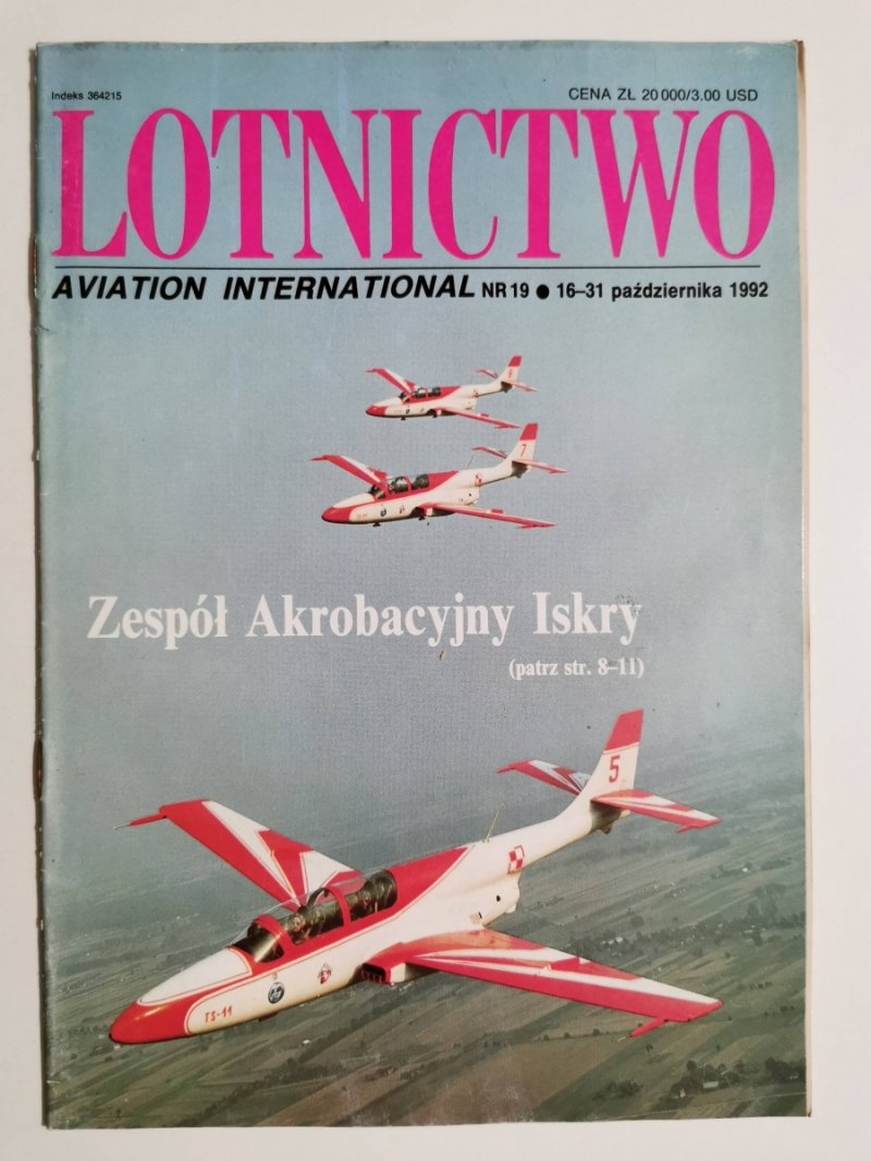 LOTNICTWO NR 19 1992