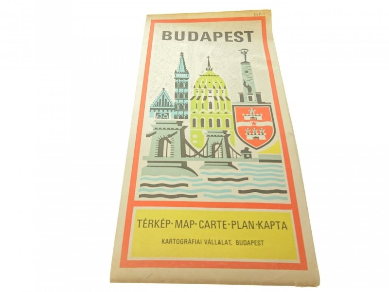BUDAPEST - PLAN MIASTA