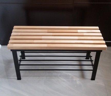 Ławka z półką  - natural