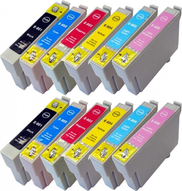 TUSZ ZAMIENNIK ORINK EPSON T0805 LIGHT CYAN [18ml] [XL]
