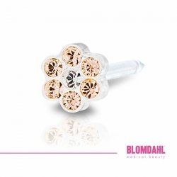 BLOMDAHL - 12-0114-75  Daisy Golden Rose/ Crystal 5 mm