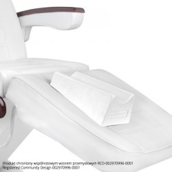 Podnóżek do pedicure na fotel - biały