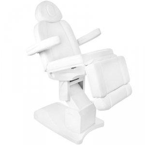 Fotel kosmetyczny elektr. Azzurro 708A 4sil. - biały