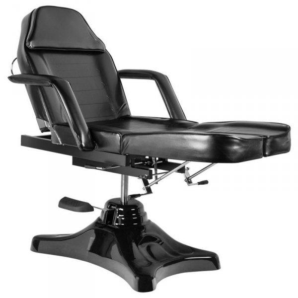 Fotel kosmetyczny hydrauliczny A-234 C Pedi - czarny