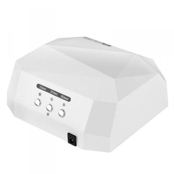 Lampa Diamond 2w1 Led+CCFL 36w Timer + Sensor - biała