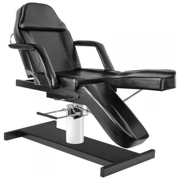 Fotel kosmetyczny hydrauliczny A-210C PEDI - czarny