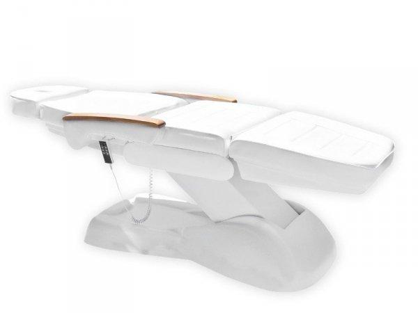 Fotel kosmetyczny - elektryczny - LUX 3M - biały