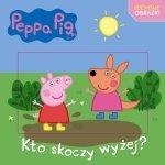 Świnka Peppa Ruchome obrazki Kto skoczy wyżej? (z okładką 3D)