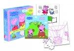 Świnka Peppa Układaj i koloruj! książka Wesołe zabawy + puzzle XXL