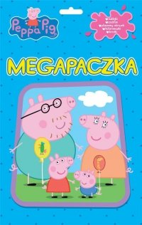Świnka Peppa Megapaczka (szablon + kolorowanki + naklejki + 6 kredek)