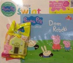 Świnka Peppa zestaw 2 książki Książeczki z półeczki + Ćwiczę z Peppą + domek MiniŚwiat