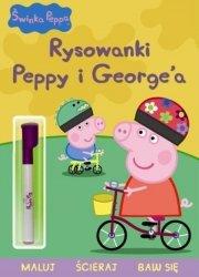 Świnka Peppa Rysowanki Peppy i George'a Pisz, maluj, ścieraj