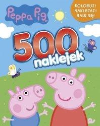 Świnka Peppa 500 naklejek Koloruj! Naklejaj! Baw się!