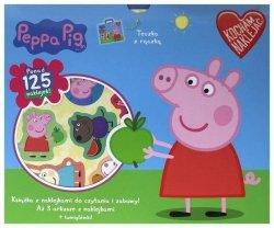 Świnka Peppa Kocham naklejać 2 (teczka, Książka i 125 naklejek)