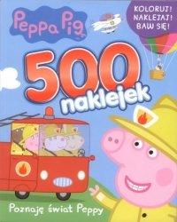 Świnka Peppa 500 naklejek 2 Poznaję świat Peppy