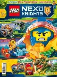 LEGO Nexo Knights magazyn 6/2018 + Clay z Mieczem Ognia + niespodzianka