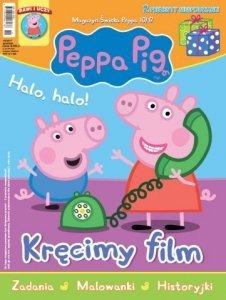 Świnka Peppa magazyn 10/2017 Kręcimy film + figurka i bajki na DVD