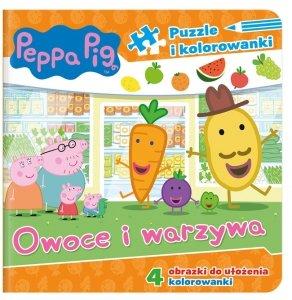 Świnka Peppa Puzzle i kolorowanki Owoce i warzywa