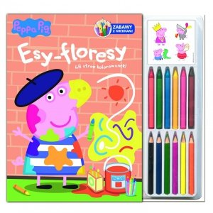 Świnka Peppa Zabawy z kredkami 3 Esy-floresy