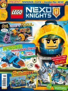 LEGO Nexo Knights magazyn 10/2017 + minisokół Claya