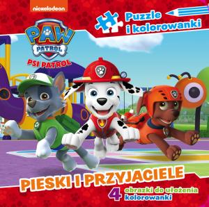 Psi Patrol Puzzle i kolorowanki 2 Pieski i przyjaciele