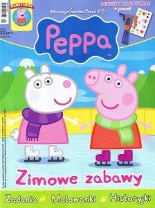 Świnka Peppa magazyn 1/2015 Zimowe zabawy + mikser z naklejkami