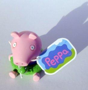 Świnka Peppa Na plaży z figurką George'a do kąpieli Edycja limitowana