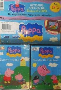 Świnka Peppa magazyn Wydanie specjalne zestaw 2 x DVD (Zabawy w błocie + Poszukiwacze skarbów)