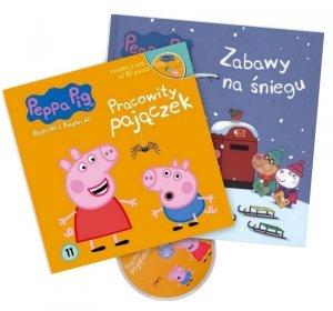 Świnka Peppa Zestaw 2 książek z DVD w supercenie Zabawy na śniegu + Pracowity pajączek