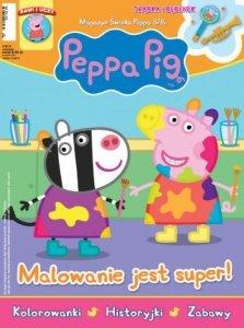 Świnka Peppa magazyn 8/2016 Malowanie jest super + trąbka i bębenek