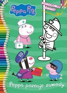 Świnka Peppa Pokoloruj świat! Peppa poznaje zawody