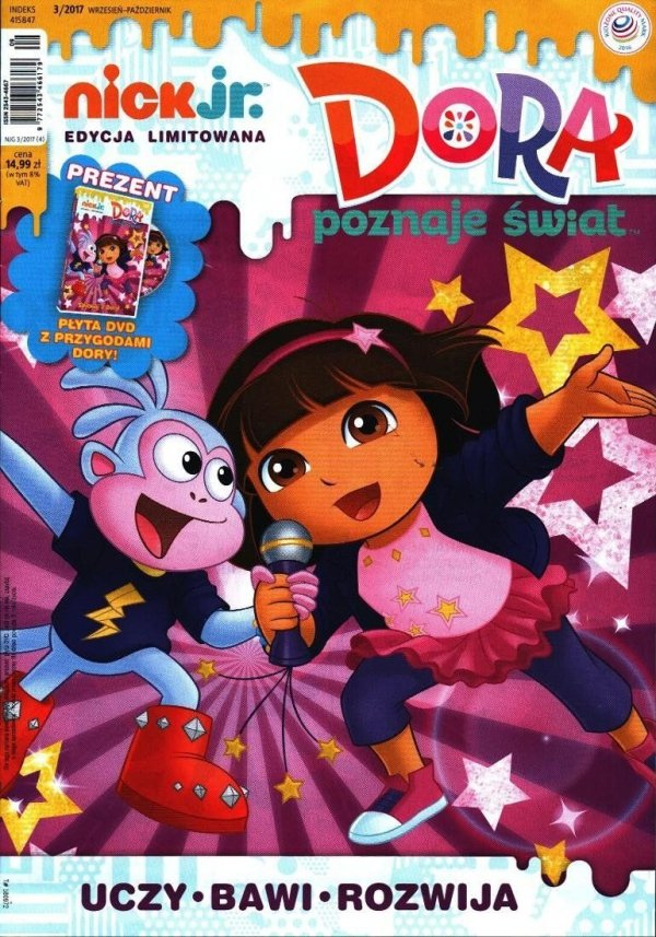 Nick Jr. edycja limitowana 3/2017 + DVD Śpiewaj z Dorą