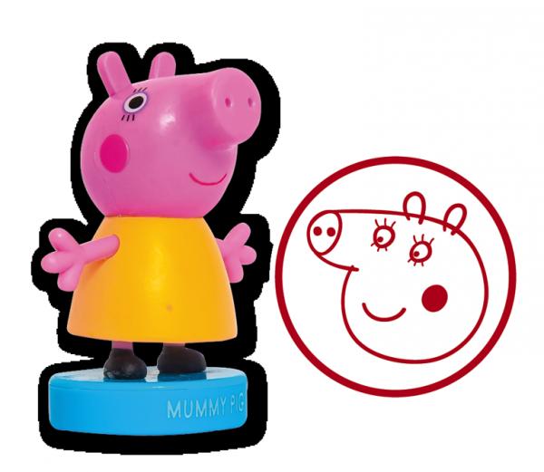 Świnka Peppa Stempelkowo 2 Wesoła rodzinka (pieczątka mama Świnka)