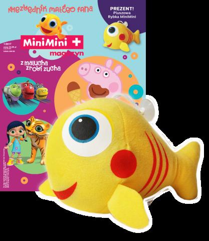 MiniMini magazyn Niezbędnik małego fana 1/2017 + Maskotka pluszowa rybka